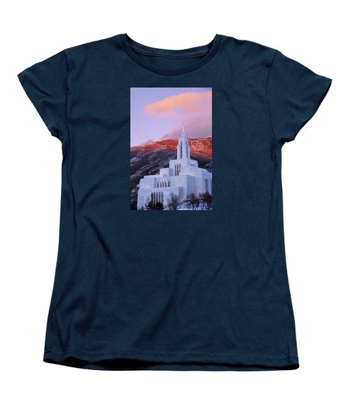 Last Light At Draper Temple Women's T-Shirt (Standard Fit)