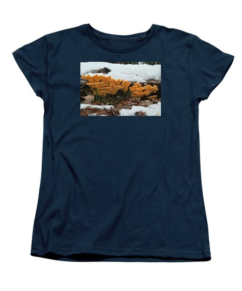 Last Mushrooms Of The Seasons Women's T-Shirt (Standard Cut) by Michael Peychich