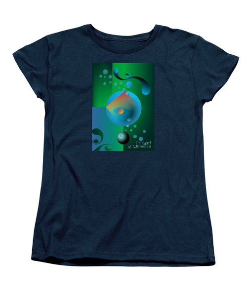 Women's T-Shirt (Standard Cut) featuring the digital art Late Night Prayer by Leo Symon