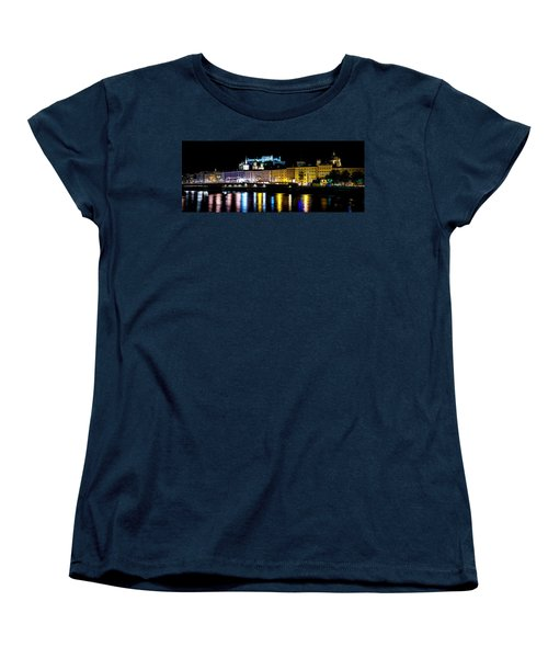 Women's T-Shirt (Standard Cut) featuring the photograph Late Night Stroll In Salzburg by David Morefield