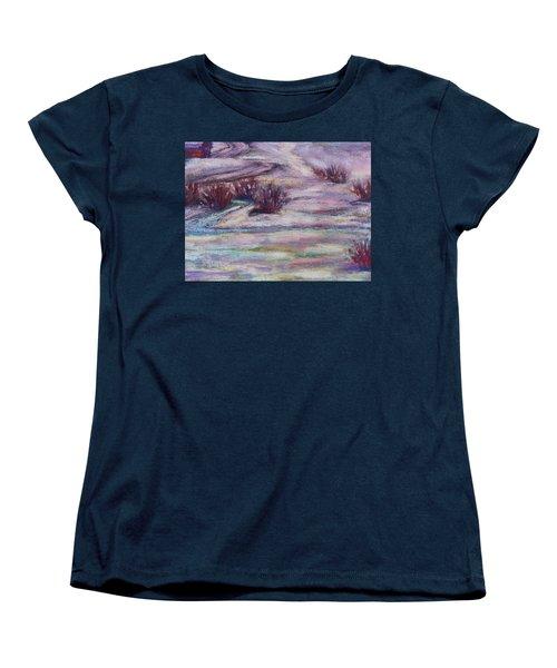 Late Winter Light Women's T-Shirt (Standard Cut) by Becky Chappell