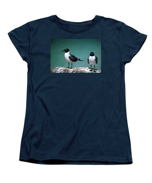 Women's T-Shirt (Standard Cut) featuring the photograph Laughing Gulls by Sally Weigand