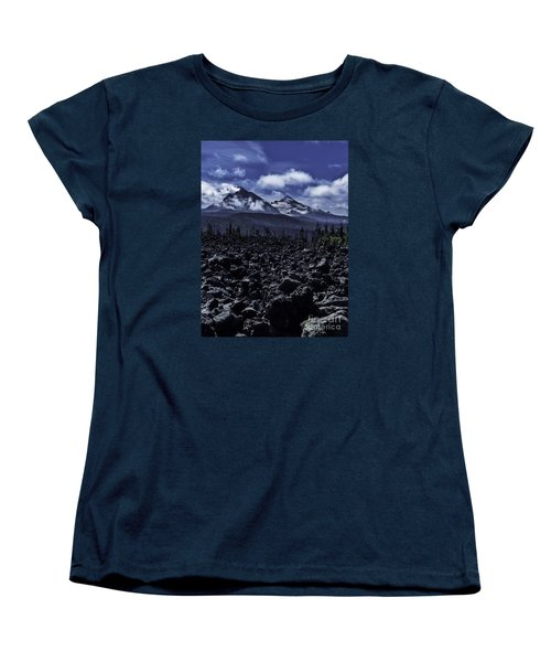 Lava Below The Sisters Women's T-Shirt (Standard Cut) by Nancy Marie Ricketts