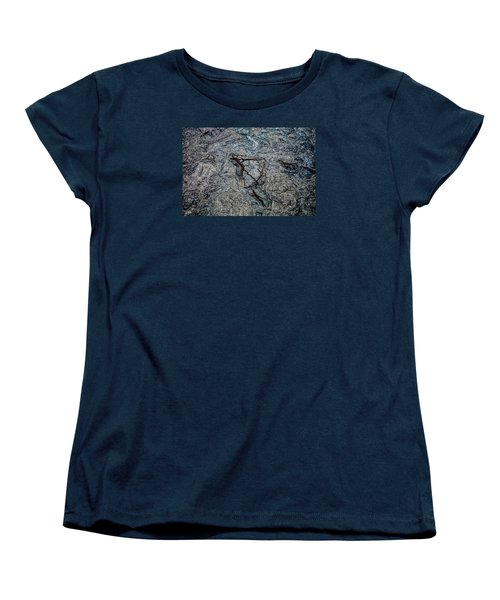 Women's T-Shirt (Standard Cut) featuring the photograph Lava by M G Whittingham
