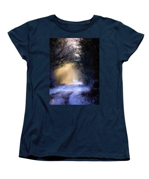 Lavander Snow  Women's T-Shirt (Standard Cut)