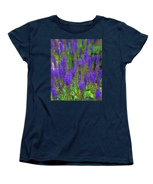 Women's T-Shirt (Standard Cut) featuring the digital art Lavender Patch by Chris Flees