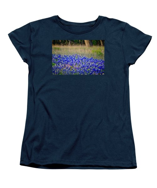 Women's T-Shirt (Standard Cut) featuring the photograph Layers Of Blue by Linda Unger