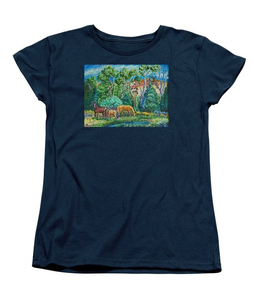 Lazy Wyoming Afternoon Women's T-Shirt (Standard Cut) by Dawn Senior-Trask