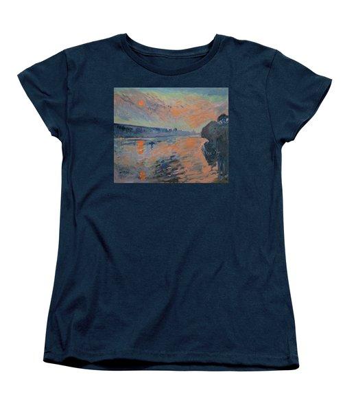 Le Coucher Du Soleil La Meuse Maastricht Women's T-Shirt (Standard Cut) by Nop Briex