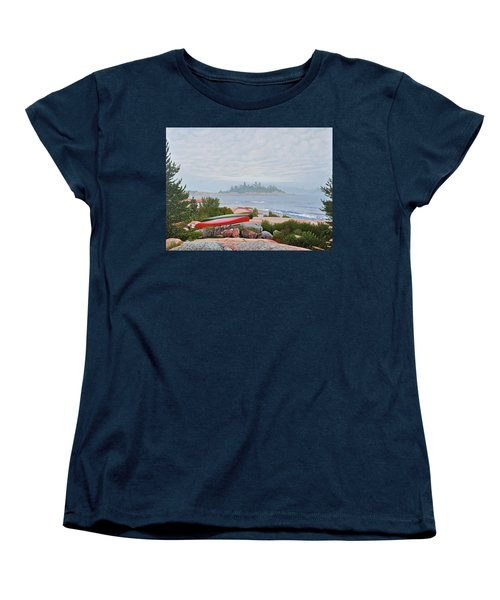 Women's T-Shirt (Standard Cut) featuring the painting Le Hayes Island by Kenneth M Kirsch