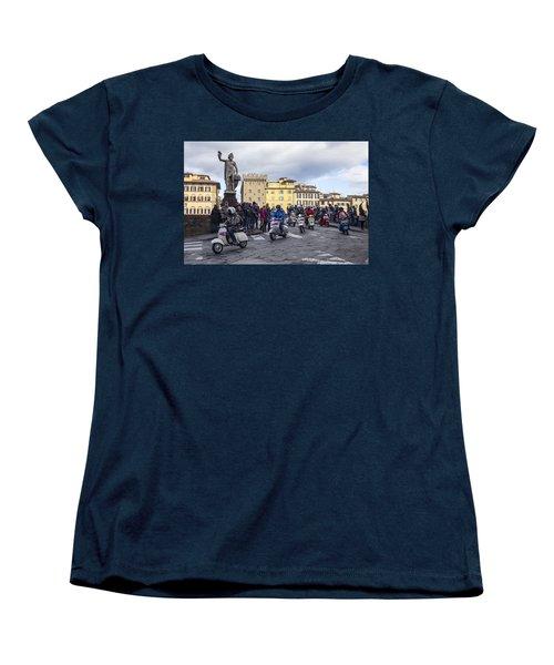 Women's T-Shirt (Standard Cut) featuring the photograph Vespe Di Firenze by Sonny Marcyan