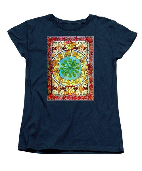 Leaf Motif 1901 Women's T-Shirt (Standard Cut) by Padre Art