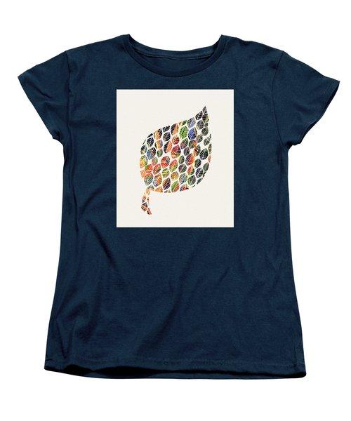 Women's T-Shirt (Standard Cut) featuring the digital art Leafy Palette by Deborah Smith