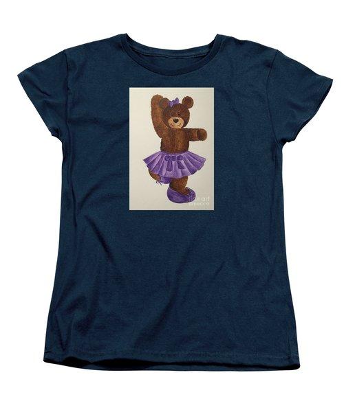 Women's T-Shirt (Standard Cut) featuring the painting Leah's Ballerina Bear 2 by Tamir Barkan