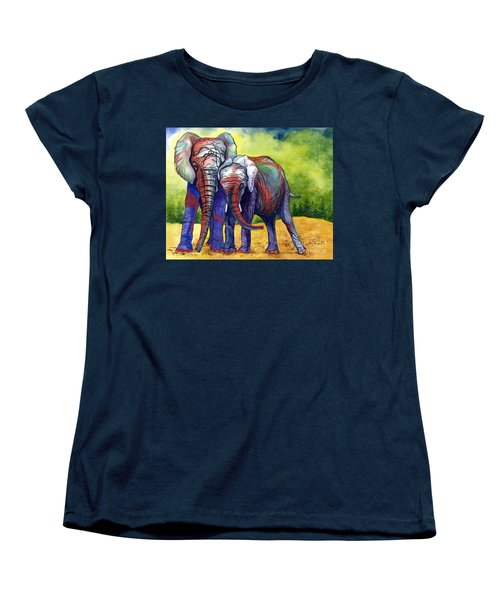 Women's T-Shirt (Standard Cut) featuring the painting Lean On Me by Barbara Jewell