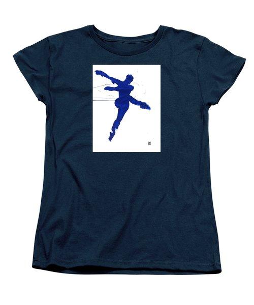 Leap Brush Blue 1 Women's T-Shirt (Standard Cut) by Shungaboy X