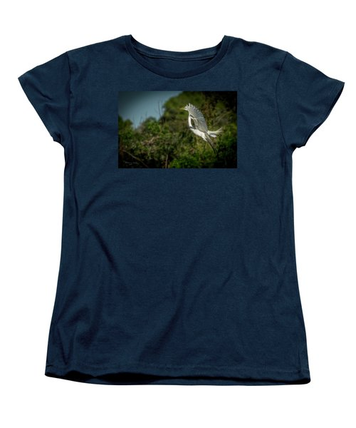 Women's T-Shirt (Standard Cut) featuring the photograph Leap Of Faith by Marvin Spates