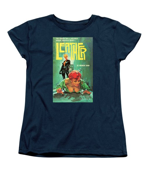 Women's T-Shirt (Standard Cut) featuring the painting Leather by Robert Bonfils