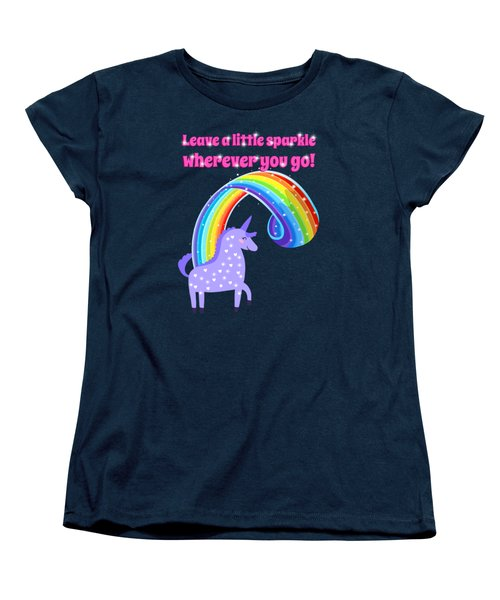 Leave A Little Sparkle Wherever You Go Women's T-Shirt (Standard Cut) by Little Bunny Sunshine
