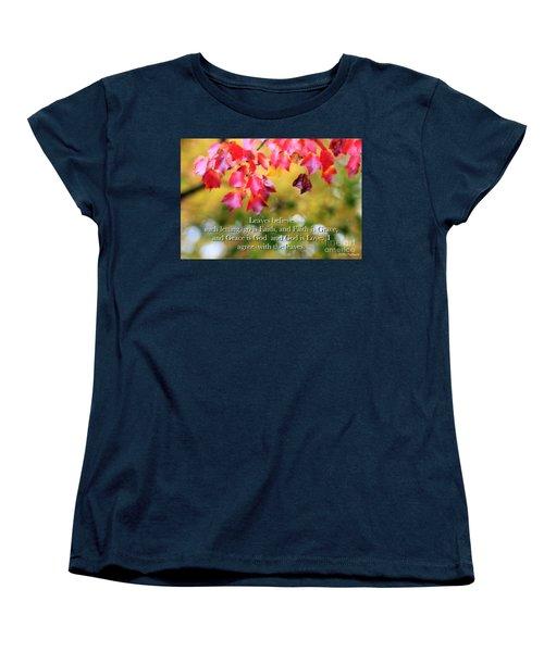 Leaves Believe Women's T-Shirt (Standard Cut) by MaryLee Parker
