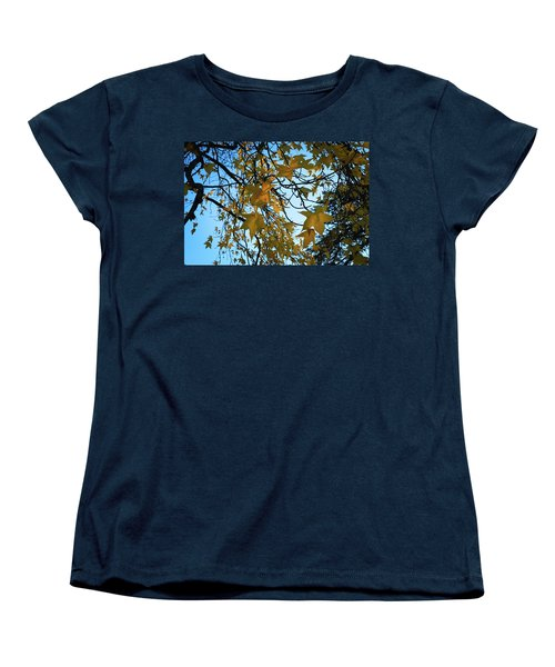 Women's T-Shirt (Standard Cut) featuring the photograph Leaves by Cendrine Marrouat