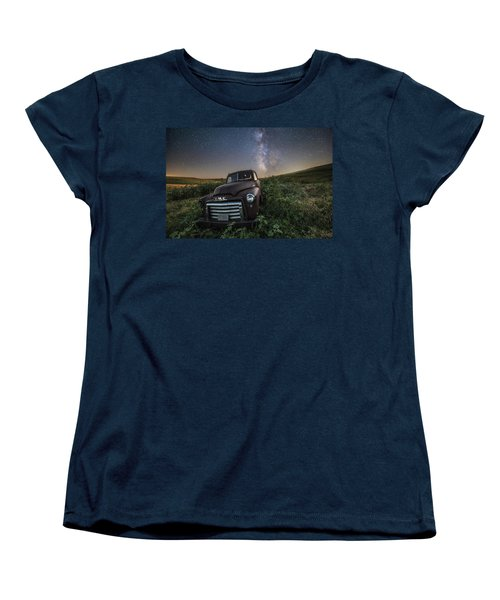 Women's T-Shirt (Standard Cut) featuring the photograph Left To Rust by Aaron J Groen
