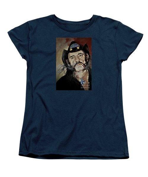 Women's T-Shirt (Standard Cut) featuring the drawing Lemmy Kilmister Motorhead by Maja Sokolowska