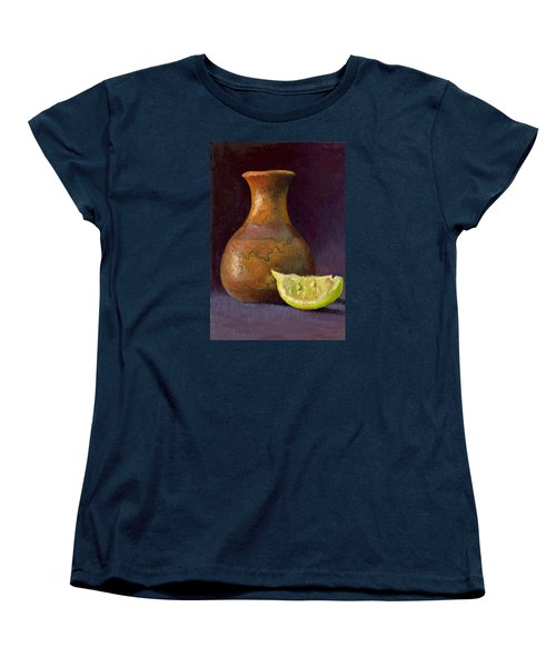 Lemon And Horsehair Vase A First Meeting Women's T-Shirt (Standard Cut) by Catherine Twomey