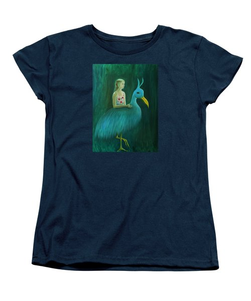 Women's T-Shirt (Standard Cut) featuring the painting Lend Me Your Strength by Tone Aanderaa