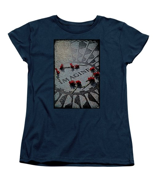 Lennon Memorial Women's T-Shirt (Standard Cut) by Chris Lord