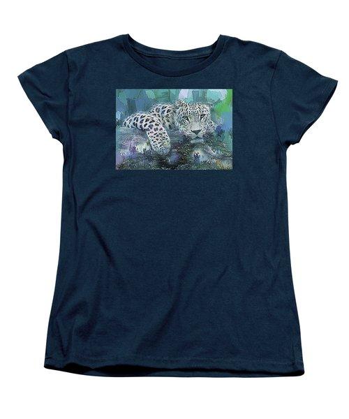 Women's T-Shirt (Standard Cut) featuring the digital art Leopard Abstract by Galen Valle