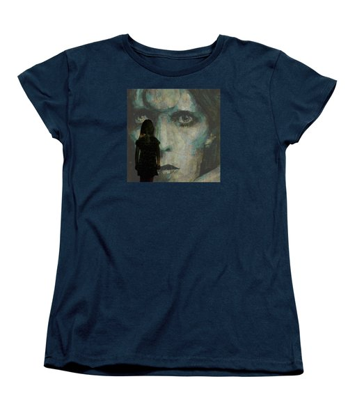 Women's T-Shirt (Standard Cut) featuring the painting Let The Children Lose It Let The Children Use It Let All The Children Boogie by Paul Lovering