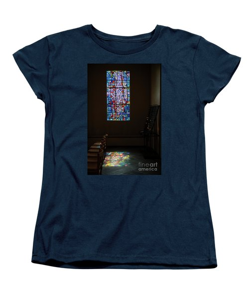 Women's T-Shirt (Standard Cut) featuring the photograph Let There Be Coloured Light... by Nina Stavlund
