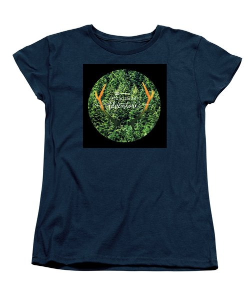 Let's Go On An Adventure Women's T-Shirt (Standard Cut) by Robin Dickinson
