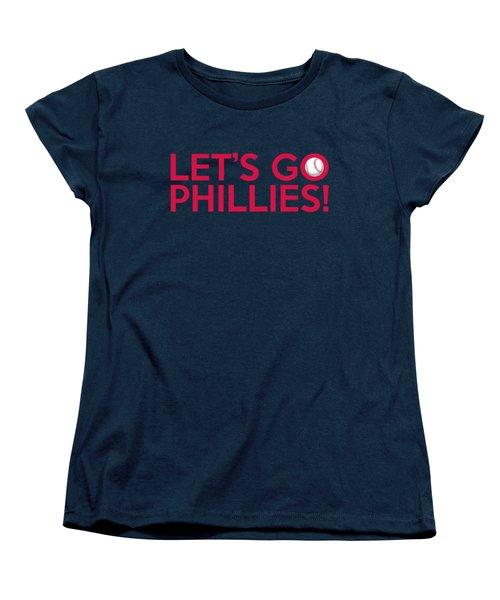 Let's Go Phillies Women's T-Shirt (Standard Cut) by Florian Rodarte
