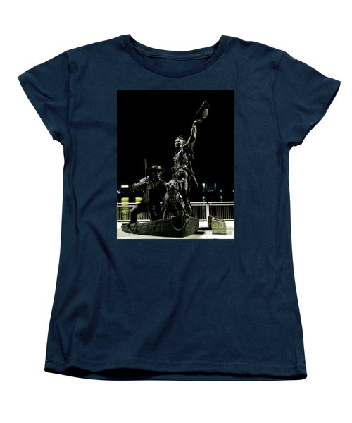 Lewis And Clark Arrive At Laclede's Landing Women's T-Shirt (Standard Cut) by Kelly Awad