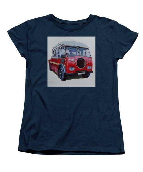 Women's T-Shirt (Standard Cut) featuring the painting Leyland Wrecker Cie by Mike Jeffries