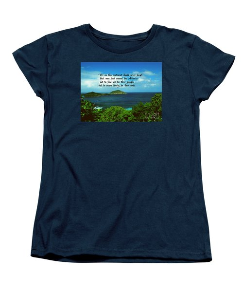 Women's T-Shirt (Standard Cut) featuring the photograph Liberty by Gary Wonning
