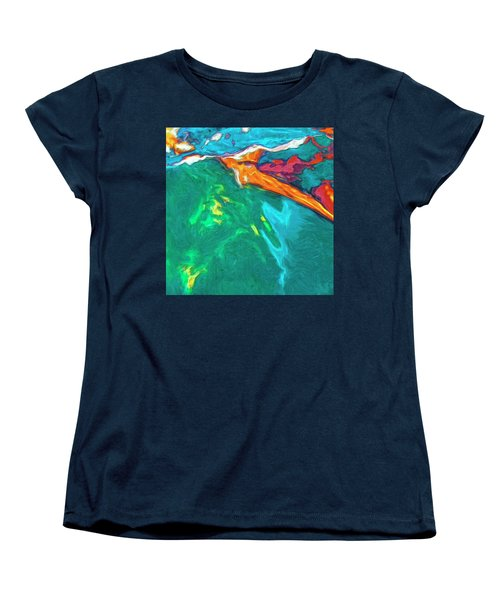 Women's T-Shirt (Standard Cut) featuring the painting Lies Beneath by Dominic Piperata