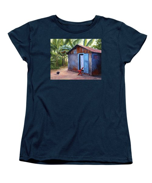 Women's T-Shirt (Standard Cut) featuring the painting Life In Haiti by Janet King