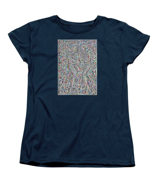 Women's T-Shirt (Standard Cut) featuring the mixed media Life Series 4 by Giovanni Caputo