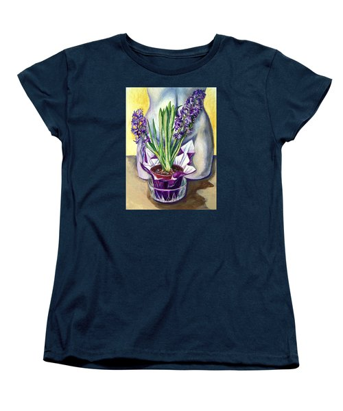 Women's T-Shirt (Standard Cut) featuring the drawing Life Spring by Laura Aceto