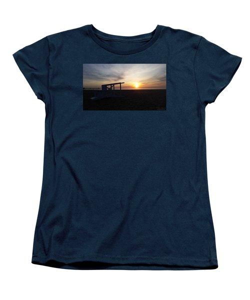 Lifeguard Stand And Sunrise Women's T-Shirt (Standard Cut)