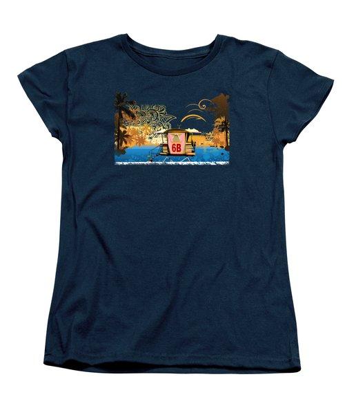 Lifeguard Station 6b Women's T-Shirt (Standard Cut) by Paulette B Wright