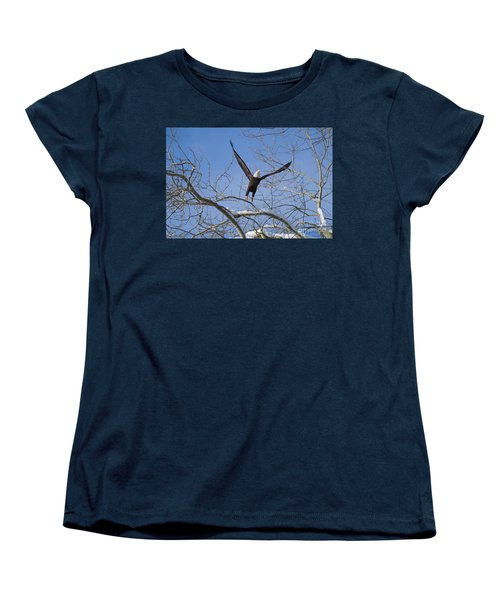 Women's T-Shirt (Standard Cut) featuring the photograph Lift Off by Jim  Hatch