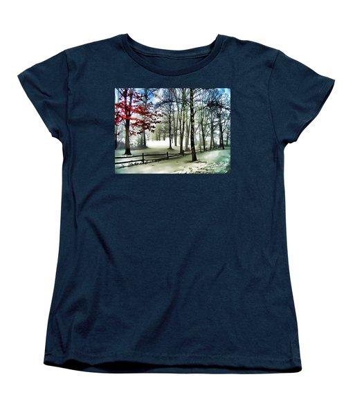 Lifting Fog Women's T-Shirt (Standard Cut) by Betsy Zimmerli