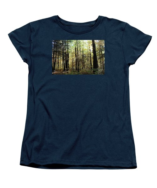 Women's T-Shirt (Standard Cut) featuring the photograph Light Among The Trees by Felipe Adan Lerma