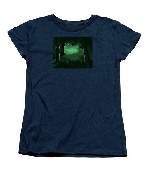 Light In The Forest Women's T-Shirt (Standard Cut) by Walter Chamberlain