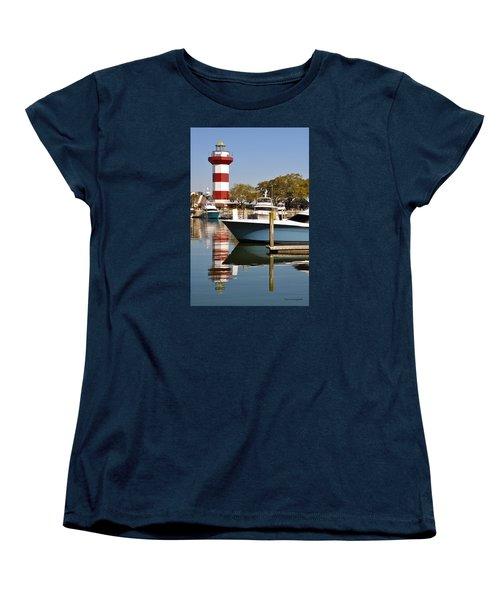 Light In The Harbor Women's T-Shirt (Standard Cut) by Kay Lovingood