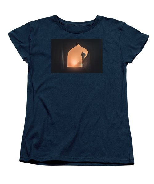 Women's T-Shirt (Standard Cut) featuring the photograph Light Of Cathedral by Jenny Rainbow